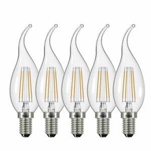 لامپ فیلامنتی 4 وات تی لایت مدل 804 پایه E14 بسته 5 عددی