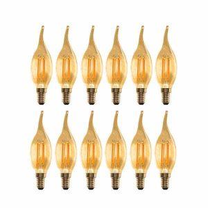 لامپ فیلامنتی ال ای دی 4 وات مدل شمعی پایه E14 بسته 12عددی