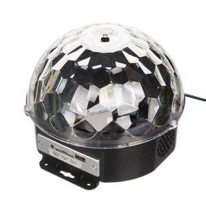 اسپیکر و رقص نور مدل LED Crystral Magic Ball Light