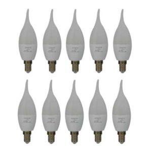لامپ ای ال دی 8 وات سناتور مدل اشکی پایه E14 بسته 10 عددی